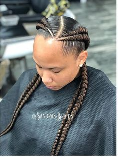 Beautiful Pictures of an Amazing Braided Hairstyles - goddess braids - Box Braids Hairstyles, Two Cornrow Braids, Black Hairstyles, Hairstyles Pictures, Twin Braids, Teenage Hairstyles, African Hairstyles, Black Girl Braids, Braids For Black Hair