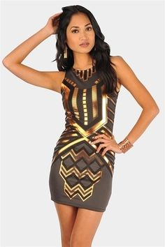 Katness Metallic Dress