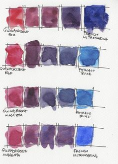 My palette of Daniel Smith watercolours Watercolor Pallet, Watercolor Mixing, Watercolor Projects, Watercolor Techniques, Watercolor Cards, Watercolor Landscape, Watercolour Painting, Color Mixing Chart, Color Charts