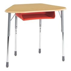Virco Zuma Trapezoid Group Learning Desk - For Hexagonal Groupings - Plastic Book Box  https://www.schooloutfitters.com/catalog/product_info/pfam_id/PFAM2759/products_id/PRO8857