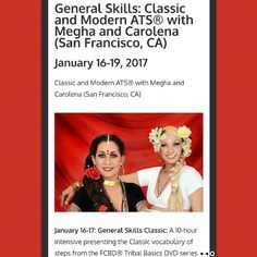 General Skills: Classic and Modern ATS® (San Francisco, CA, USA) January 16-19, 2017 - Upcoming Events! #ATS #bellydance #tribal