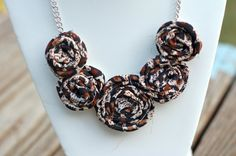Just uploaded my cheetah print bib necklace! I'm obsessed with animal prints for fall.