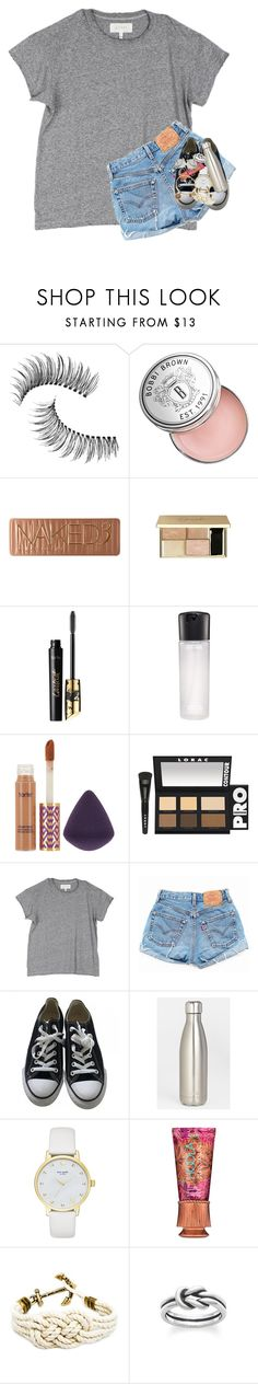 """"" by supremegrier ❤ liked on Polyvore featuring Trish McEvoy, Bobbi Brown Cosmetics, Urban Decay, tarte, MAC Cosmetics, LORAC, The Great, Levi's, Converse and S'well"