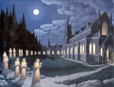 Optical Illusion Paintings, Optical Illusions, Robert Gonsalves, Melencolia I, Ontario, Magic Realism, Illusion Art, Beautiful Mind, Painting Process