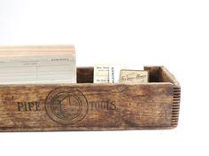 Antique Industrial Wooden Box  Rustic Wood by DairyFarmAntiques, $118.00