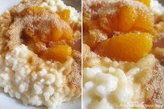 Milchreis mit Mandarinenkompott und Zimtzucker // Rice pudding with mandarin compote & cinnamon sugar