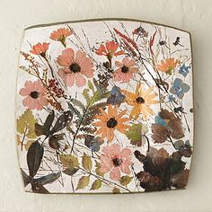 "Wildflower Series Square Platter, 1.5""h x 12.25""sq, $198"