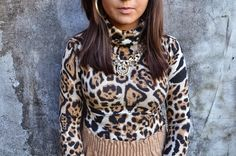 Baby It's Cold Outside   A Diva's Diary Leopard turtleneck