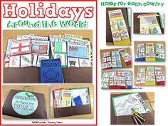 Holidays around the world, christmas around the world, passport, christmas, december, first grade, second grade