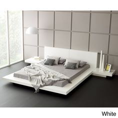 Modern Garcia Sabate Altea Bed In Matt White High Gloss White Opt Bedside Cabinets