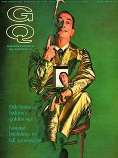 GQ cover featuring Salvador Dali, October 1963
