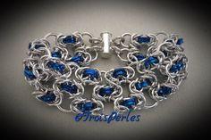32  Chain Maille Armband  Chainmaille Bracelet von TroisPerles
