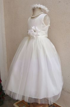 IVORY BROWN SILVER BLACK GOLD BEIGE BABY TODDLER PAGEANT PARTY FLOWER GIRL DRESS #Dress