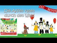 Die Affen rasen durch den Wald - Die besten Partylieder für Kinder || Kinderlieder - YouTube