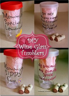 How to decorate BPA free plastic insulated wine glass tumblers. What a cool gift idea!