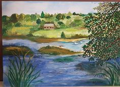 Landscape using acrylics