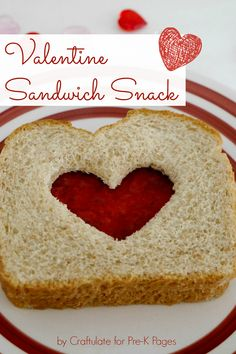 Valentine Sandwich Snack from Pre-K Pages