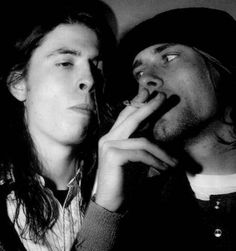 Oh Lord. Kurt Cobain and Dave Grohl <3