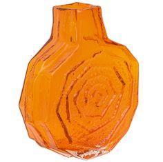 1stdibs | Large Whitefriars Orange Banjo Vase