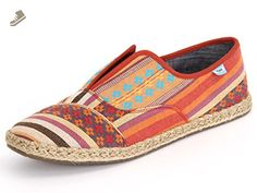 TOMS CAYENNE MULTI STRIPE WOMENS PALMERA SLIP-ONS (7) - Toms sneakers for women ( Amazon Partner-Link) Cheap Toms Shoes, Toms Shoes Outlet, Toms Sneakers, Slip On Sneakers, Womens Fashion Sneakers, Womens Flats, Toms Outfits, Shoe Storage, Espadrilles