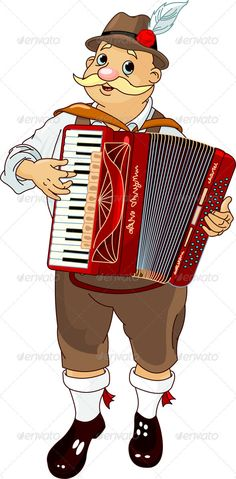 Oktoberfest Accordion Player