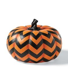 "Grandin Road 7"" Chevron Pumpkin at HSN.com"