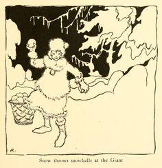 Arthur Rackham ~Snow Throws Snowballs~ 1919