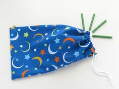 Moon Fabric Goody Bags / Baby Shower Favors / by InchwormGoodyBags