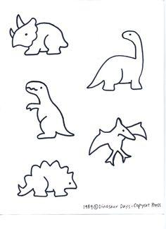 Dino patterns for preschool | Dinosaurs [pattern]