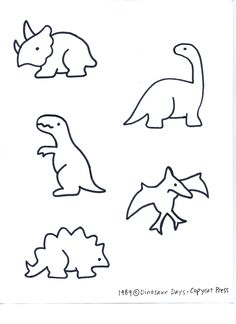Dino patterns for preschool | Dinosaurs [pattern]