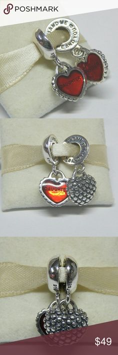 Pandora Piece Of My Heart Mother Daughter Charm Pandora Piece Of My Heart Mother / Daughter Charm # 790950EN27        Autumn 2016 Collection   Sterling silver  New and never used  % 100 authentic  S925/ale hallmark stamps on it  Official Pandora foldable cartoon box tissue and sticker included with purchase   If you interested in another item on my list please ask me, I do combine   Priority Shipping available +$5    Enjoy shopping Jewelry