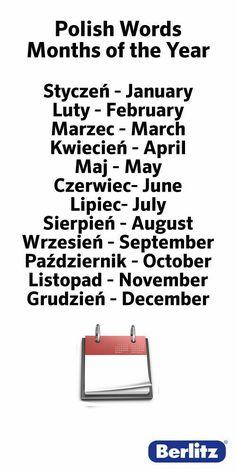 Polish words for those who need some of the basic words! Polish Alphabet, Learn Polish, Polish Words, Polish Language, Poland Travel, Online Lessons, Thinking Day, Polish Recipes, Polish Pottery