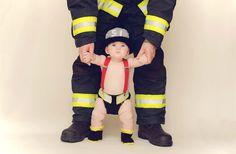 LOVEEEE!!!!   Crochet Baby Fireman Helmet, Boots and Diaper Cover Set - Fireman Hat, Fireman Booties, Fireman Diaper Cover - Made to Order