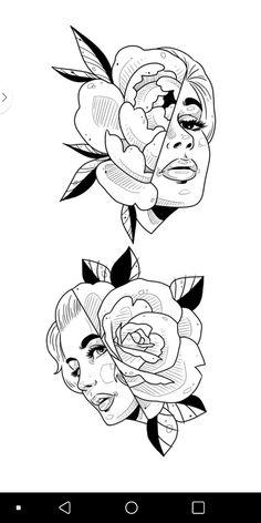 Gothic Drawings, Dark Art Drawings, Bts Drawings, Art Drawings Sketches, Tattoo Sketches, Desenhos Old School, Dessin Old School, Arte Lowrider, Art Inspo