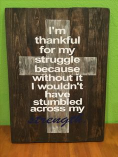 Cross Board Art Pallet Painting Ideas Struggle Quotes Strength