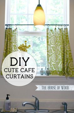 make your own cute diy cafe curtains with this easy step by step - Kitchen Curtain Ideas Diy