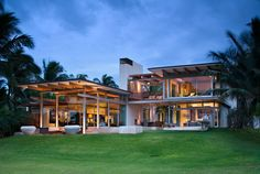 This new house in Hawaii is designed to take advantage of the cool sea breezes in Maui by Bossley Architects
