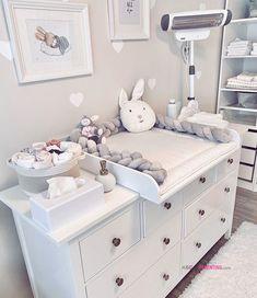 baby room Wickelkommode Ikea Hemnes jenna_franke I - Bedroom Storage Ideas For Clothes, Bedroom Storage For Small Rooms, Small Bedroom Organization, Baby Room Design, Small Room Design, Nursery Design, Baby Bedroom, Baby Boy Rooms, Ikea Bedroom