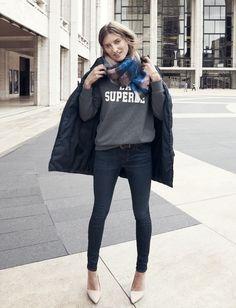 Madewell et Sézane: La Superbe sweatshirt #madewellxsezane