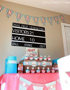Love Of Family & Home: DIY Baseball Themed Birthday Party