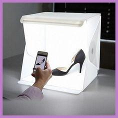 24cm / 9  mini Folding Lightbox Photography Studio Softbox LED Light Soft Box Camera Photo & 19