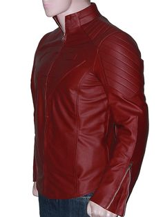 From celebrated TV series, US Leather Firm offers a spectacular Superman Smallville red leather jacket for $119. Save upto 50% discount from 2015 New Winter deal. Remarkable for clubs, casual hangouts, parties, bikers, college and winter season. Order one right away!