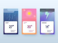 Hello everyone! Here's a new UI freebie for colorful weather prediction apps…