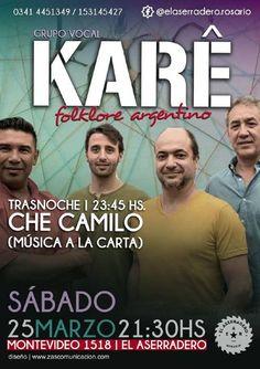FolkloreCLUB - 25/03/2017 - SANTA FE: Cuarteto Karê en El Aserradero