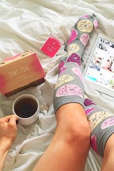 An adorable pair of socks & tea - cannot wait for winters !