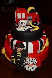 Firefighter, Fire Engine & Dalmations Cake | Shared by LION