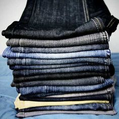 How often to wash jeans Every four to five wears It's ok to wear your heavy denim jeans several times before washing, as long as they're not stained. Over-washing can cause them to wear out prematurely. How to:  1. Turn jeans inside out and wash in cold water. (already wash in cold but didn't know about inside out) 2. Drip dry. I do put in on fluff with load of clothes for 25 min it seems to not hurt them.