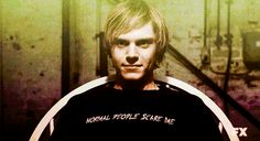 Image discovered by Musso. Find images and videos about american horror story, ahs and evan peters on We Heart It - the app to get lost in what you love. Evan Peters, Tate E Violet, Tate Ahs, American Horror Story 3, Movies And Series, Tv Series, Emo Guys, Black Parade, My Sun And Stars