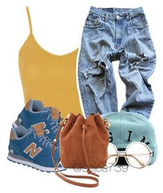 """Untitled #131"" by scjos739 ❤ liked on Polyvore featuring Topshop, Levi's, New Balance and Sophie Hulme"
