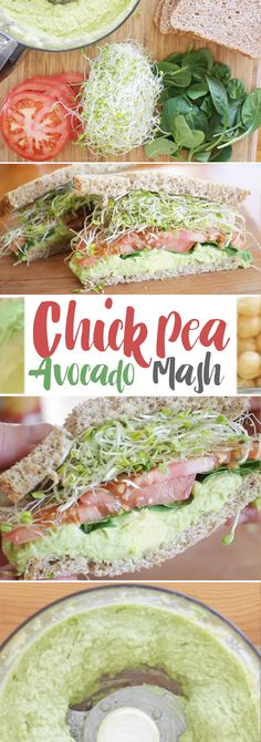 A great healthy sandwich that won't taste like it... avocados, chickpeas and more!